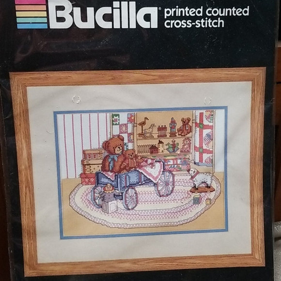 Bucilla Other - Vintage Bucilla Printed Counted Cross Stitch Kit